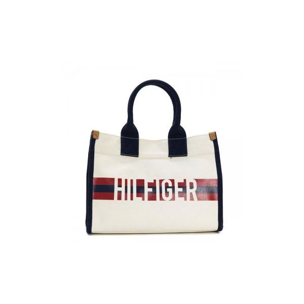 TOMMY HILFIGER(トミーヒルフィガー) トートバッグ 6929740 467 NATURAL/NAVY/REDf00