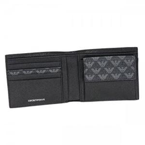 【9月15日まで限定販売】EMPORIO ARMANI(エンポリオアルマーニ) 二つ折り財布(小銭入れ付) Y4R065 86526 LAVAGNA/NERO