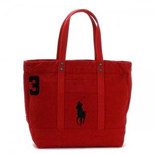 RalphLauren(ラルフローレン) トートバッグ 405532853 1 PARK AVE RED W/ BLACK PP