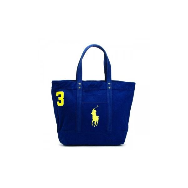RalphLauren(ラルフローレン) トートバッグ 405532853 2 RUGBY ROYAL W/ YELLOW PPf00