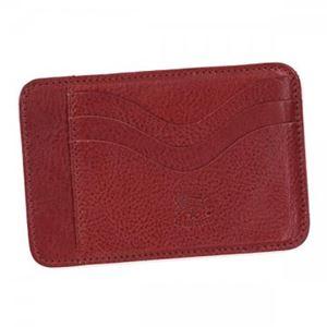 IL BISONTE(イルビゾンテ) カードケース C0959 245 ROSSO RUBINO