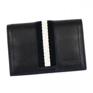 Bally(バリー) カードケース  TOBEL 290 BLACK BLACK/WHITE h01