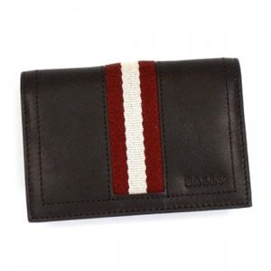 Bally(バリー) カードケース TOBEL 271 CHOCOLATE RED/WHITE h01