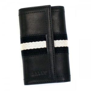 Bally(バリー) キーケース TUTO 290 BLACK BLACK/WHITE h01
