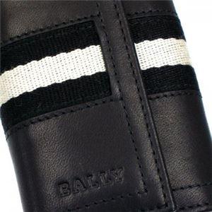Bally(バリー) キーケース TUTO 290 BLACK BLACK/WHITE h03