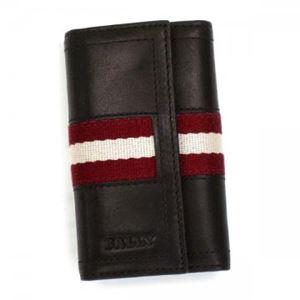 Bally(バリー) キーケース TUTO 271 CHOCOLATE RED/WHITE h01