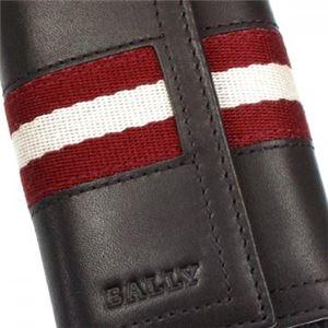 Bally(バリー) キーケース TUTO 271 CHOCOLATE RED/WHITE h03