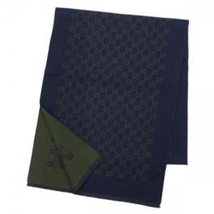 Gucci(グッチ) マフラー 391246 4166 NAVY/GREEN h01