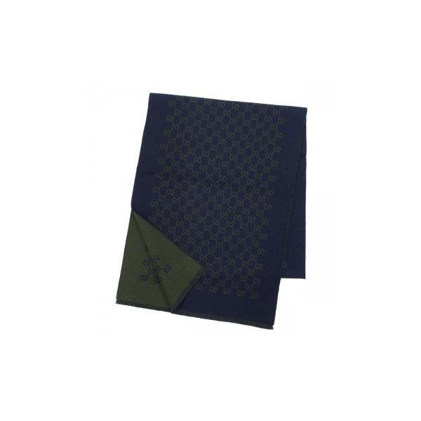 Gucci(グッチ) マフラー 391246 4166 NAVY/GREENf00