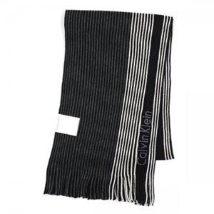 Calvin Klein(カルバンクライン) マフラー  77300 BKJ CHARCOAL/BLACK/SOFT GREY h01