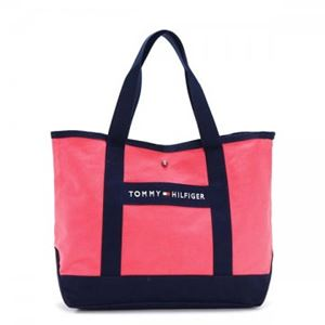 TOMMY HILFIGER(トミーヒルフィガー) トートバッグ 6923661 662 CALYPSO CORAL/NAVY h01