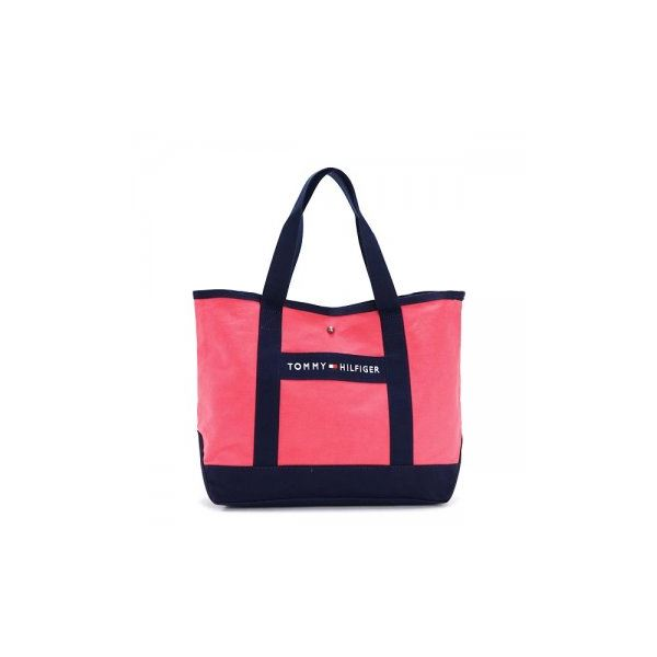 TOMMY HILFIGER(トミーヒルフィガー) トートバッグ 6923661 662 CALYPSO CORAL/NAVYf00