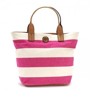 TOMMY HILFIGER(トミーヒルフィガー) トートバッグ 6931825 653 RASPBERRY/NATURAL h01