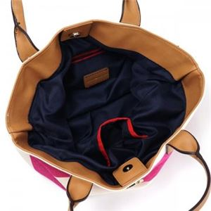 TOMMY HILFIGER(トミーヒルフィガー) トートバッグ 6931825 653 RASPBERRY/NATURAL h03