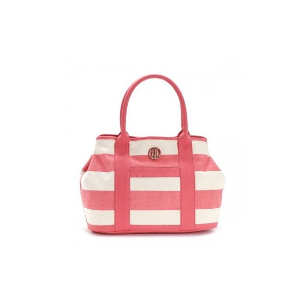 TOMMY HILFIGER(トミーヒルフィガー) トートバッグ 6932079 662 CALYPSO CORAL/NATURALf00