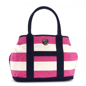 TOMMY HILFIGER(トミーヒルフィガー) トートバッグ 6932079 653 RASPBERRY/NATURAL h01