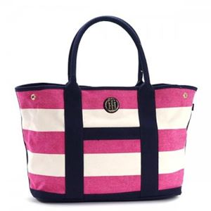 TOMMY HILFIGER(トミーヒルフィガー) トートバッグ 6932079 653 RASPBERRY/NATURAL h02