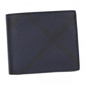 Burberry(バーバリー) 二つ折り財布(小銭入れ付) 3998944 NAVY/BLACK h01