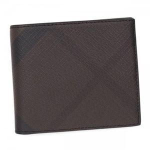 Burberry(バーバリー) 二つ折り財布(小銭入れ付) 3998943 CHOCOLATE/BLACK h01