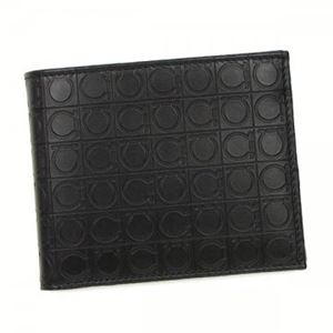Ferragamo(フェラガモ) 二つ折り財布(小銭入れ付) 669407 568274 DEEP BLACK
