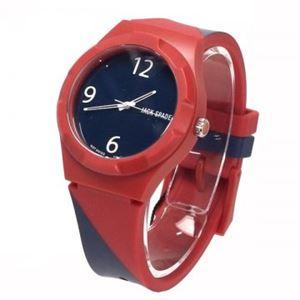 JACK SPADE(ジャックスペード) 時計 JSWURU0008 レッド(ケース) ブルー(文字盤)