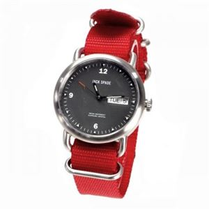 JACK SPADE(ジャックスペード) 時計 JSWURU0030 シルバー(ケース) ブラック(文字盤) h01