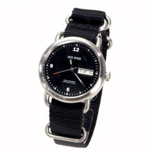 JACK SPADE(ジャックスペード) 時計 JSWURU0055 シルバー(ケース) ブラック(文字盤)