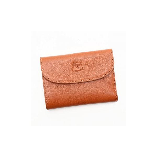 IL BISONTE(イルビゾンテ) 三つ折り財布(小銭入れ付) C0972 145 CARAMELf00