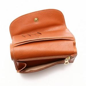 IL BISONTE(イルビゾンテ) 三つ折り財布(小銭入れ付) C0972 145 CARAMEL f04