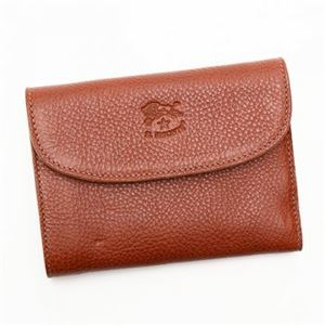 IL BISONTE(イルビゾンテ) 三つ折り財布(小銭入れ付) C0972 214 COGNAC h01