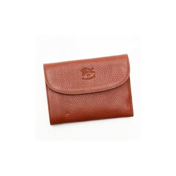 IL BISONTE(イルビゾンテ) 三つ折り財布(小銭入れ付) C0972 214 COGNACf00