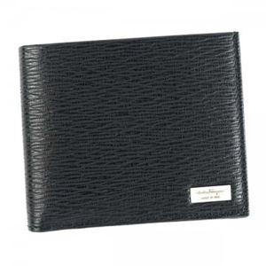 Ferragamo(フェラガモ) 二つ折り財布(小銭入れ付) 669964 636155 NERO h01