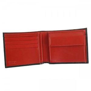 Ferragamo(フェラガモ) 二つ折り財布(小銭入れ付) 669964 636155 NERO h03