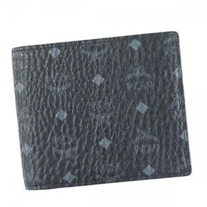 MCM(エムシーエム) 二つ折り財布(小銭入れ付) MXS6AVI66 BK001 BLACK h01