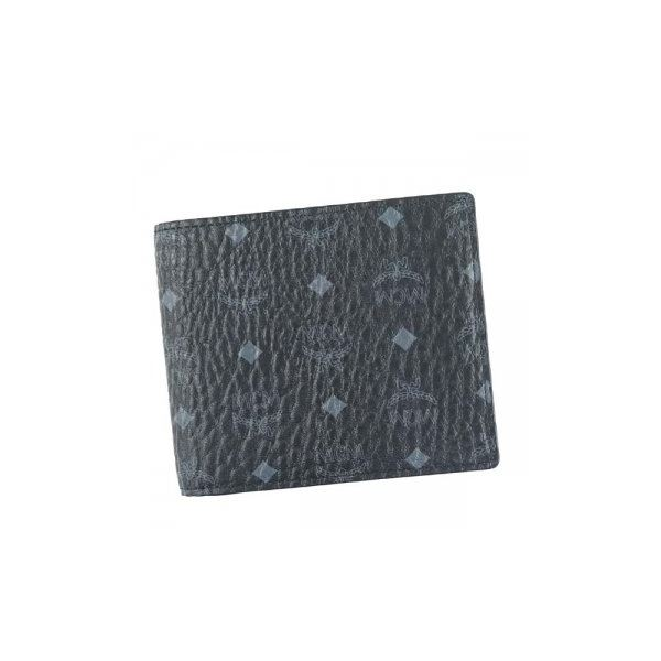 MCM(エムシーエム) 二つ折り財布(小銭入れ付) MXS6AVI66 BK001 BLACKf00