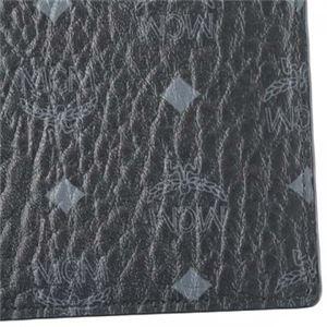 MCM(エムシーエム) 二つ折り財布(小銭入れ付) MXS6AVI66 BK001 BLACK f04