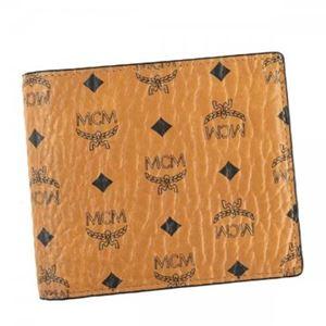 MCM(エムシーエム) 二つ折り財布(小銭入れ付) MXS6AVI66 CO001 COGNAC h01