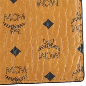 MCM(エムシーエム) 二つ折り財布(小銭入れ付) MXS6AVI66 CO001 COGNAC f04