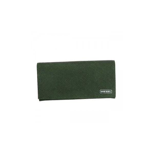 DIESEL(ディーゼル) 長財布 X03340 MILLITARY GREEN/BLACK P0517f00