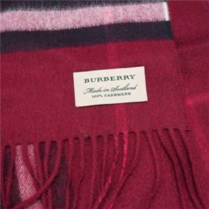 Burberry(バーバリー) マフラー GIANT ICON 168 PLUM CHK h02