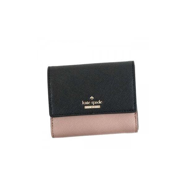 KATE SPADE(ケイトスペード) 二つ折り財布(小銭入れ付) PWRU5092 221 PORCINI/BLACKf00