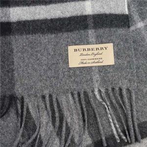 Burberry(バーバリー) マフラー GIANT ICON 168 CORE CASHMERE MID GREY h02