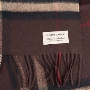 Burberry(バーバリー) マフラー GIANT ICON 168 CORE CASHMERE DKCHESTNUT BROWN CK h02