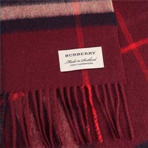 Burberry(バーバリー) マフラー GIANT ICON 168 CORE CASHMERE CLARET CHECK h02