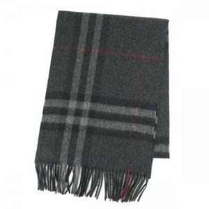 Burberry(バーバリー) マフラー GIANT ICON 168 CORE CASHMERE CHARCOAL CHECK h01