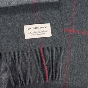 Burberry(バーバリー) マフラー GIANT ICON 168 CORE CASHMERE CHARCOAL CHECK h02
