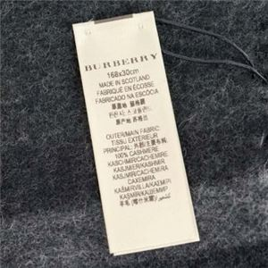 Burberry(バーバリー) マフラー GIANT ICON 168 CORE CASHMERE CHARCOAL CHECK h03