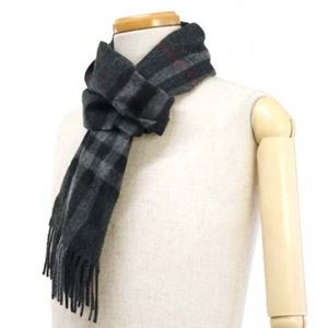 Burberry(バーバリー) マフラー GIANT ICON 168 CORE CASHMERE CHARCOAL CHECK f04