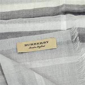 Burberry(バーバリー) マフラー GAUZE GIANT CHK PALE GREY h02