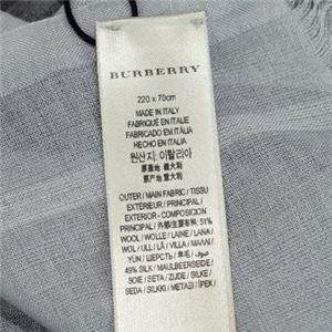 Burberry(バーバリー) マフラー GAUZE GIANT CHK PALE GREY h03